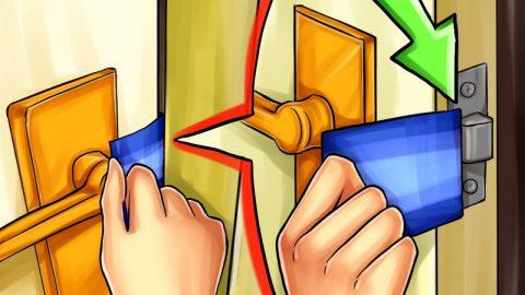 Arkada Anahtar Kalan Çelik Kapı Nasıl Açılır?